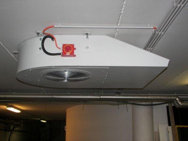 quạt công nghiệp trong hệ thống phòng cháy chữa cháy