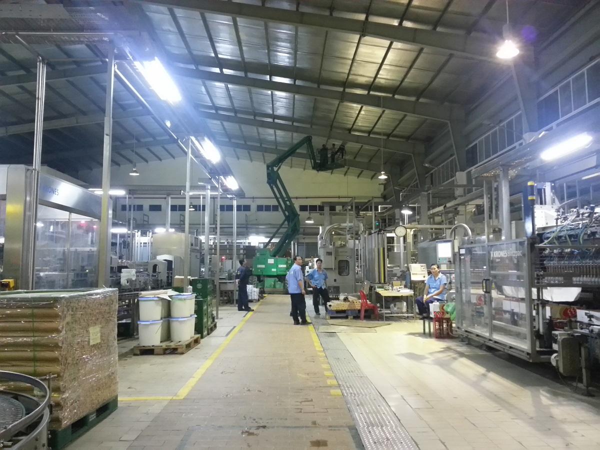 Chiếu sáng nhà xưởng bằng đèn led công nghiệp