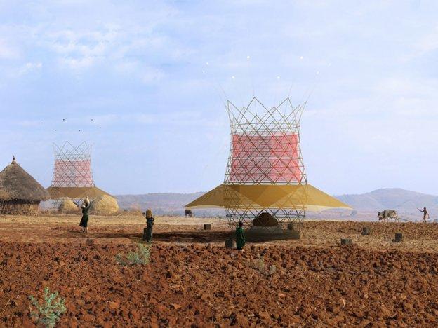 Tháp WarkaWater, tòa tháp tre được thiết kế để tận dụng nguồn nước từ không khí
