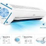 Theo các công ty cơ điện lạnh, máy điều hòa tam diện cho phép mở rộng kích thước của các bộ phận cấu thành, làm cho bề mặt hút khí lớn, quạt gió to hơn...