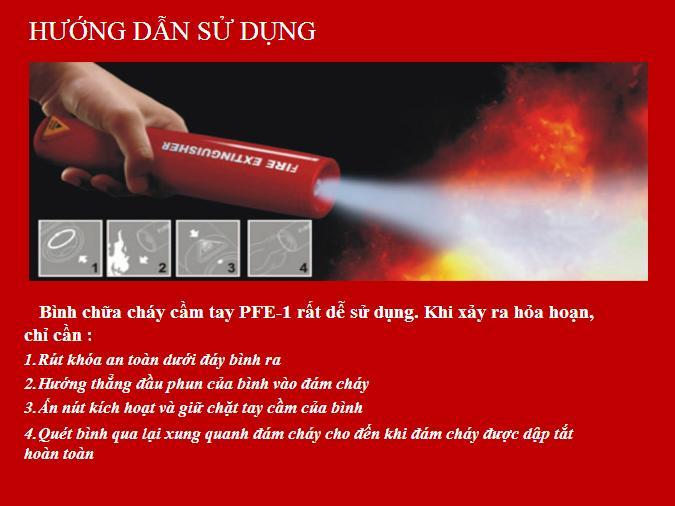 Công ty cơ điện hướng dẫn sử dụng bình chữa cháy PEE-1