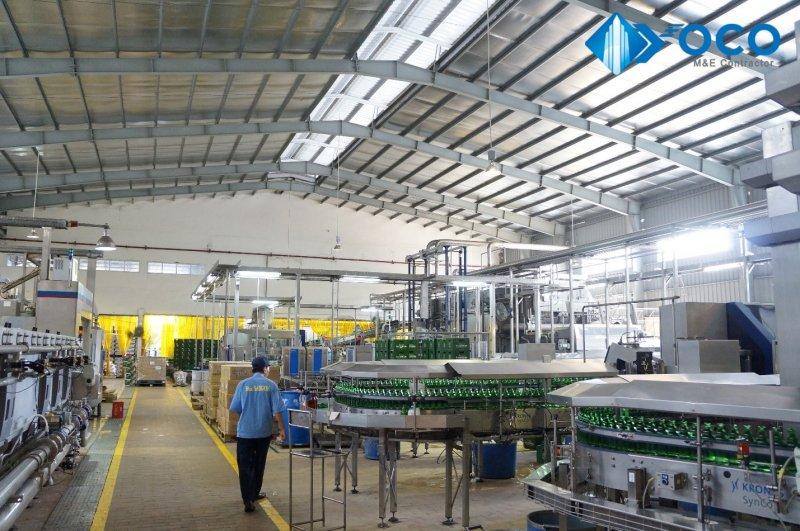 Nhà thầu Cơ Điện Lạnh Tuổi Trẻ đã thi công hệ thống điện chiếu sáng bằng đèn LED tiết kiệm điện cho Nhà máy Bia Sài Gòn (SABECO)