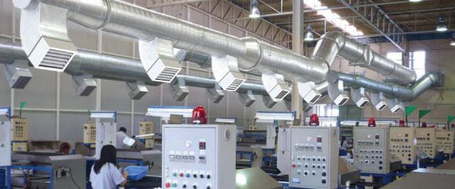 Hệ thống thông gió trong nhà xưởng