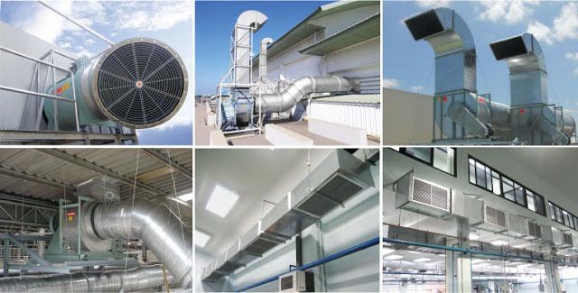 Những nơi như nhà hàng thì cần hệ thống thông gió có quy mô lớn